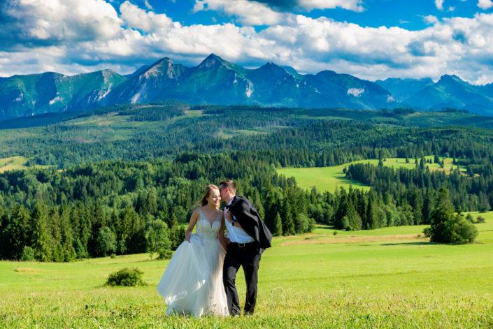Agata I Tomasz ślubna sesja w Tatrach