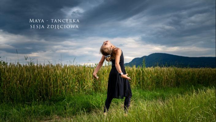Maya - mała tancerka - sportowa sesja zdjęciowa
